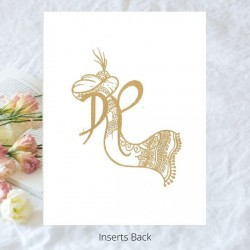 Traditional Jute Wedding Card