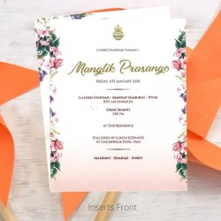 Floral Wedding Invitation with Tradtional Elements